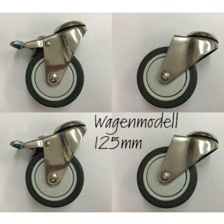 Ersatzteil Nr. 23bset - Laufrollenset zu Wagenmodell 125 mm