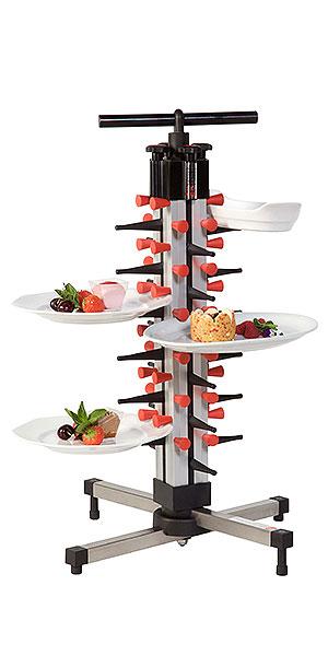 Plate Mate Tischmodell – beliebt für Buffets, Bankette und dient als Platzvermehrer